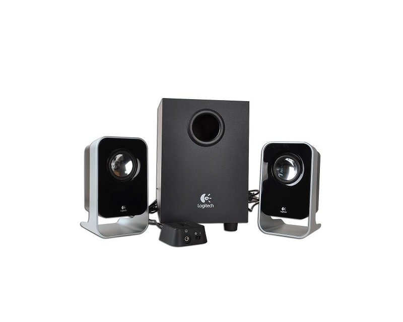 Logitech LS9 9-Piece 9.9 Channel Multimedia Speaker System w/Wired Volume  Control & Headphone Jack (Black/Silver) - Viziotech