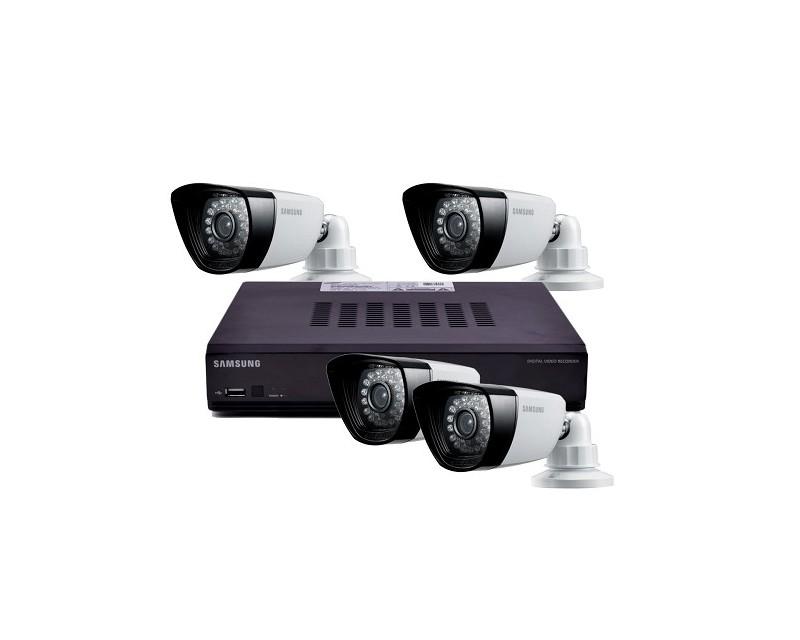 Samsung 4 Channel 500gb Dvr Home Security System W4 Night Vision